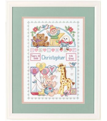 Dimensions Birth Record for Baby Cntd. Cross Stitch