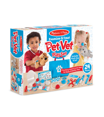 Melissa & Doug Examine Treat Pet Vet Play Set