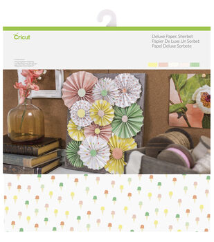 Cricut 10 Pack 12''x12'' Deluxe Papers-Sherbet