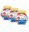 Learning Resources Jumbo Dice in Dice, 12 Per Pack, 3 Packs