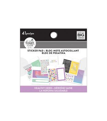 The Happy Planner Girl Tiny Sticker Pad-Healthy Hero