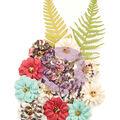 Prima Marketing Mulberry Paper Flowers-Secret Garden/Midnight Garden