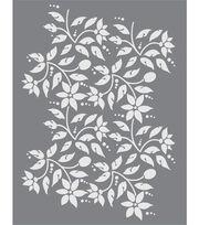 DecoArt Americana 8.5''x11'' Stencil-Jacobean Floral, , hi-res
