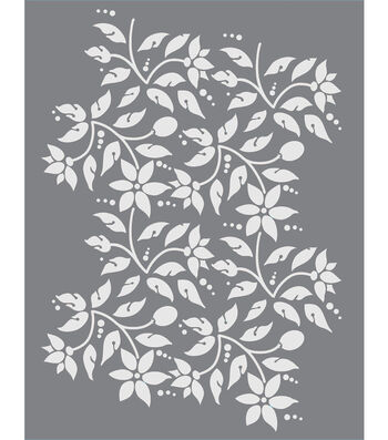 DecoArt Americana 8.5''x11'' Stencil-Jacobean Floral