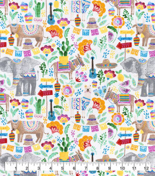 Snuggle Flannel Fabric-Festival Animals