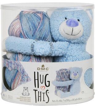 DMC Hug This! Teddy Diamond Baby Blanket Yarn Kit