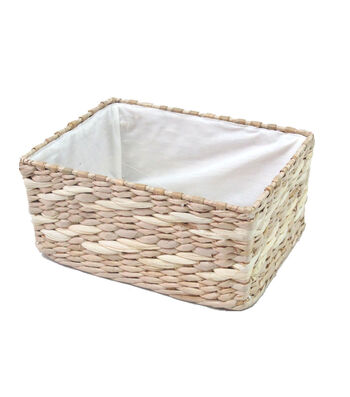 Organizing Essentials 10''x4'' Rush Basket with Metal Frame