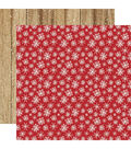 Christmas Double-Sided Cardstock 12\u0022X12\u0022-Merry Snowflakes