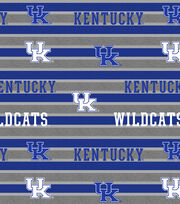 "University of Kentucky Wildcats Fleece Fabric 58""-Polo Stripe, , hi-res"