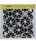 Crafter\u0027s Workshop Template 12\u0022X12\u0022-Distressed Lace