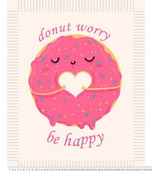No Sew Fleece Throw-Donut Worry