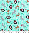Holiday Cotton Fabric -Northwood Creatures and Trees