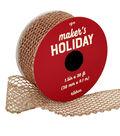 Maker\u0027s Holiday Christmas Glitter Mesh Ribbon 1.5\u0027\u0027x30\u0027-Rose Gold