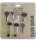 Tim Holtz Idea-Ology Word Keys Antique Metallic