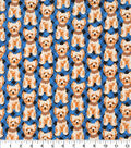 Novelty Cotton Fabric 43\u0022-Dog On Blue Plaid