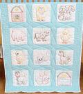 Stamped White Nursery Quilt Blocks 9\u0022X9\u0022 12/Pkg-Farm Animals