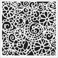 Crafter\u0027s Workshop Template Swirly Garden 6\u0022 x 6\u0022