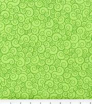 Keepsake Calico Cotton Fabric -Lime Garden Swirl, , hi-res