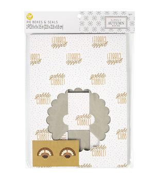 Wilton Simply Autumn Whole Pie Boxes-Gobble Gobble