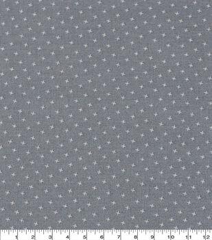 Keepsake Calico Cotton Fabric-Gray Small X Geo
