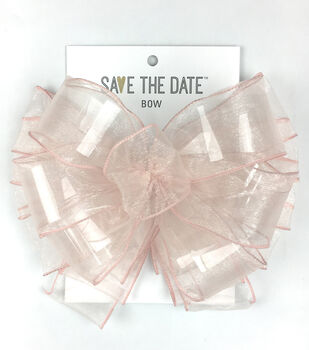 Save the Date 2.5'' Sheer Bow-Blush