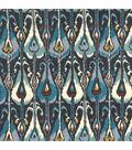 Home Decor 8\u0022x8\u0022 Fabric Swatch-Ikat Bands / Indigo