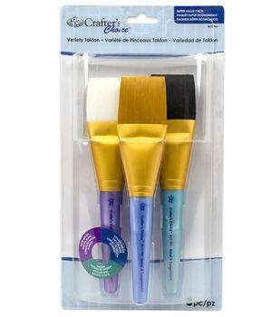 Royal & Langnickel Jumo Taklon Brush Set 3pk-Golden Black & White