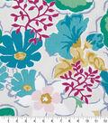 Robert Allen @ Home Print Swatch 55\u0022-Splashy Garden Turquoise