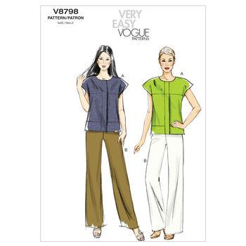 Mccall Pattern V8798 A5 (6-8-10-Vogue Pattern