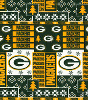 Green Bay Packers Cotton Fabric  - Winter, , hi-res