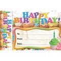 Happy Birthday Cupcakes Bookmark Awards, 30 Per Pack, 6 Packs
