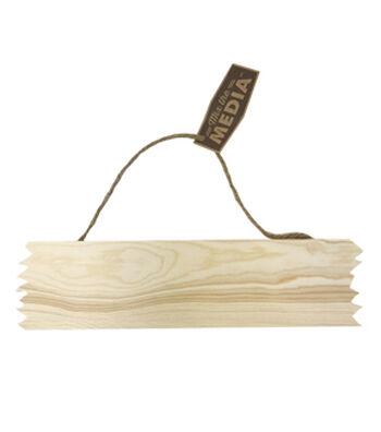 Mix the Media 12''x3'' Rough Edge Wood Plank