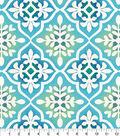 Anti-Pill Fleece Fabric 58\u0022-Blue Green Tile Print