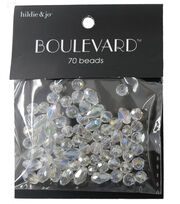 hildie & jo Boulevard 70 Pack Mixed Multi Sizes Glass Beads-Clear, , hi-res