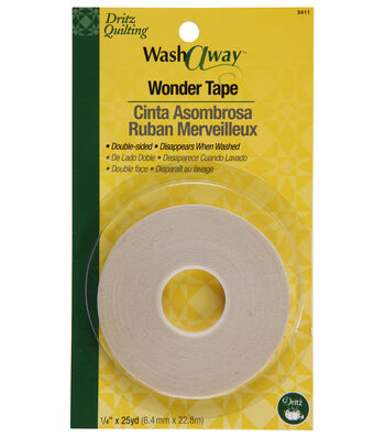 Dritz Quilting 0.25 inch Wide x 25Yds Wash Away Wonder Tape