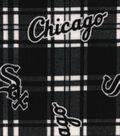 Chicago White Sox Fleece Fabric -Plaid