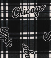 "Chicago White Sox Fleece Fabric 58""-Plaid, , hi-res"