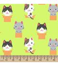 Snuggle Flannel Fabric -Peek A Boo Kitty