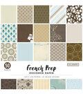 Colorbok 68lb Designer Single-Sided Paper 12\u0022X12\u0022-French Prep 25 Designs