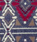 Luxe Fleece Fabric -Wine & White Aztec