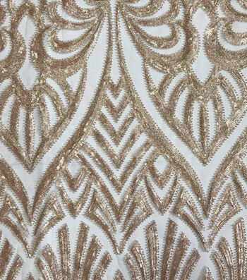 Gianna Abstract Glitter Sequins Fabric 56''
