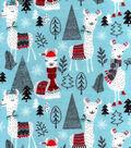 Snuggle Flannel Fabric -Winter Llamas
