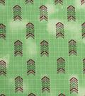Modern Cotton Fabric 43\u0027\u0027-Arrows on Green