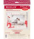 RIOLIS 15.75\u0027\u0027x11.75\u0027\u0027 Counted Cross Stitch Kit-Frame Love & Happiness