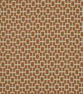Home Decor 8\u0022x8\u0022 Fabric Swatch-Print Fabric Robert Allen Cats Cradle Papaya