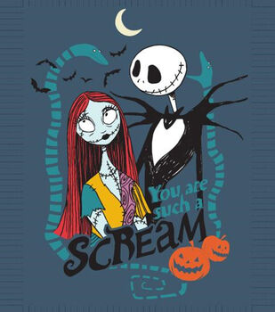 Nightmare Before Christmas No Sew Fleece Throw-You Are Such A Scream