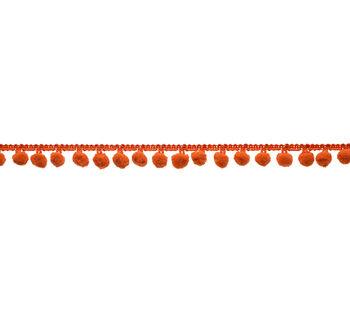 "3/4"" Pom Pom Fringe Orange Apparel Trim"