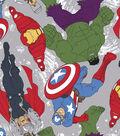 Marvel Comics Fleece Fabric -Avengers Toss