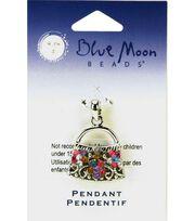 Blue Moon Rectangle Pendant Purse-1pc Multi, , hi-res
