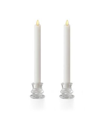 """Luminara 8"""" Wax-Dipped Taper Candles-Ivory"""